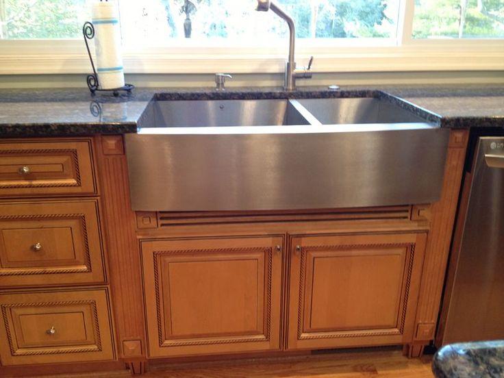 metal kitchen sink base cabinets ikea corner stainless farmhouse