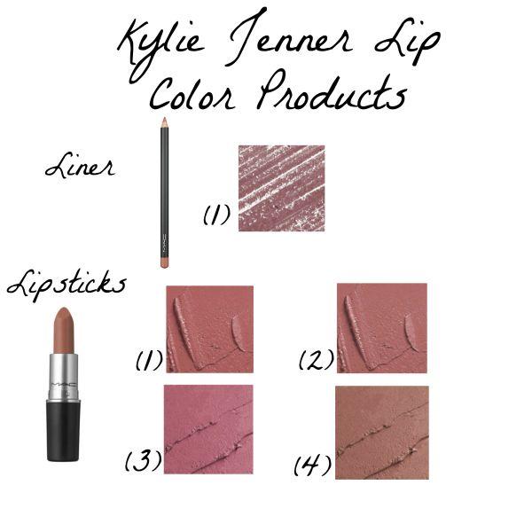 Lip Liner: MAC Lip Pencil 'Whirl' Lipsticks: 1) MAC 'Brave' 2) MAC 'Faux' 3) MAC 'Pink Plaid' 4) MAC 'Velvet Teddy'