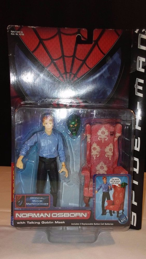 2001 SPIDERMAN MOVIE ACTION FIGURE SERIES 1 NORMAN OSBORN
