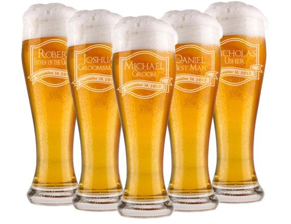 Wedding Gift Beer Mugs : Beer Glass, Engraved Glasses, Beer Mug, Wedding Party Gifts, Gifts ...
