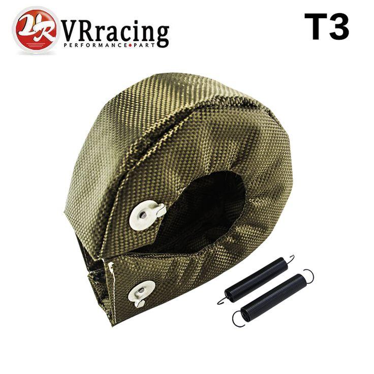 Vr racing-100 % penuh titanium turbo perisai panas selimut t3 turbo fit: t2 t25 t28 gt28 gt30 gt35 dan paling t3 turbo VR1303-2T