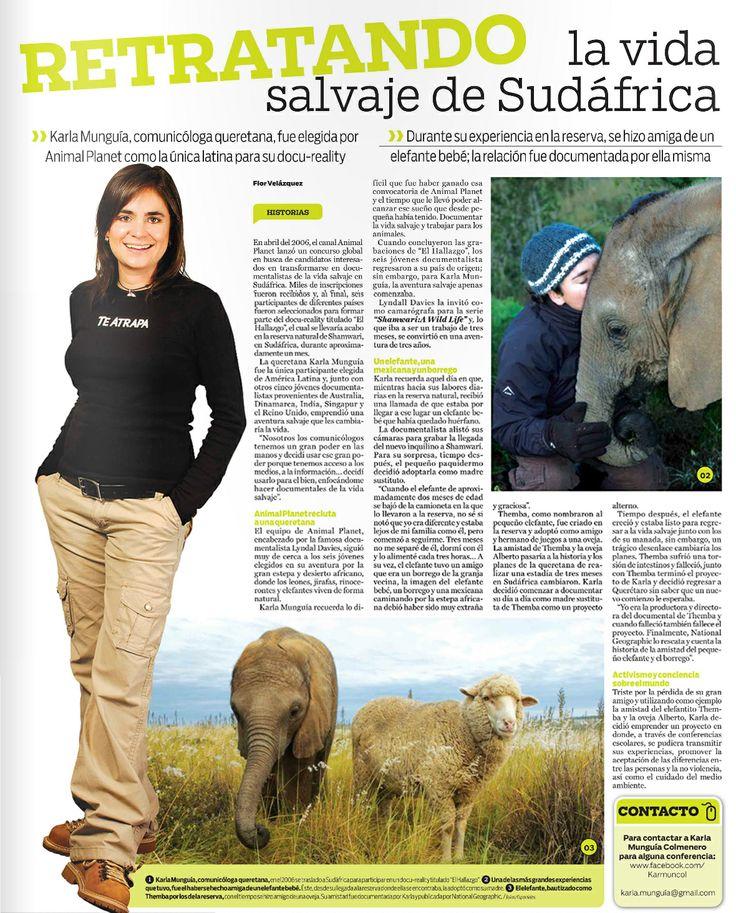 Conoce el perfil de Karla Munguía, documentalista y camarógrafa, egresada de la carrera de Ciencias de la Comunicación del Tecnológico de Monterrey Campus Querétaro, publicado en el periódico am.
