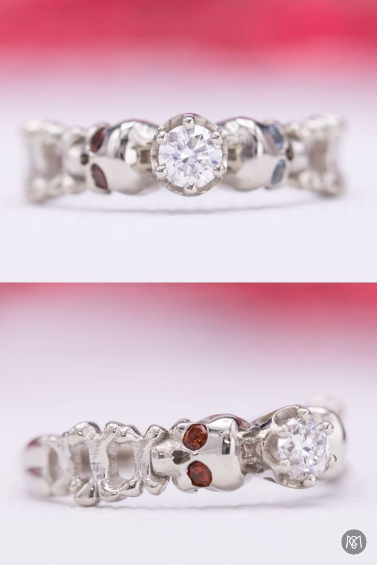 8 best Skull Engagement Rings images on Pinterest