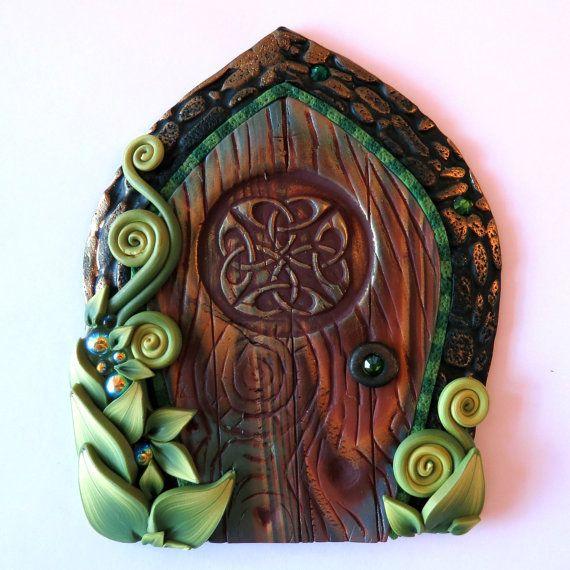 Hobbit Door for boys, Celtic Fairy Door Pixie Portal Fairy EntranceGarden by Claybykim