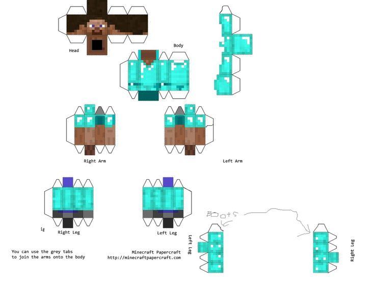 foldable Minecraft print outs | J's birthday ideas | Pinterest