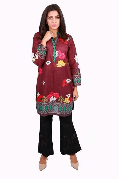 Pakistani Designer Stitched Kurti Available Online By Gul Ahmed Winter Collection 2017 In Maroon Color. #wintercollection  #blackfriday #readytowear #pretwear  #unstitched #online  #linen #linencollection  #lahore #karachi #islamabad #newyork #london  #pakistan #pakistani #indian #alkaram #breakout #zeen  #khaadi #sanasafinaz #limelight #nishat #khaddar #daraz #gulahmed #2017 #2018  #blackfriday #pakistani_dresses #best_price #indian_dresses