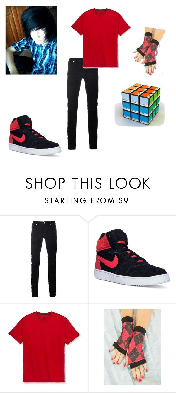 """""""Roxas grown up"""" by themastersucks on Polyvore featuring Diesel Black Gold, NIKE, Fruit of the Loom, men's fashion and menswear"""