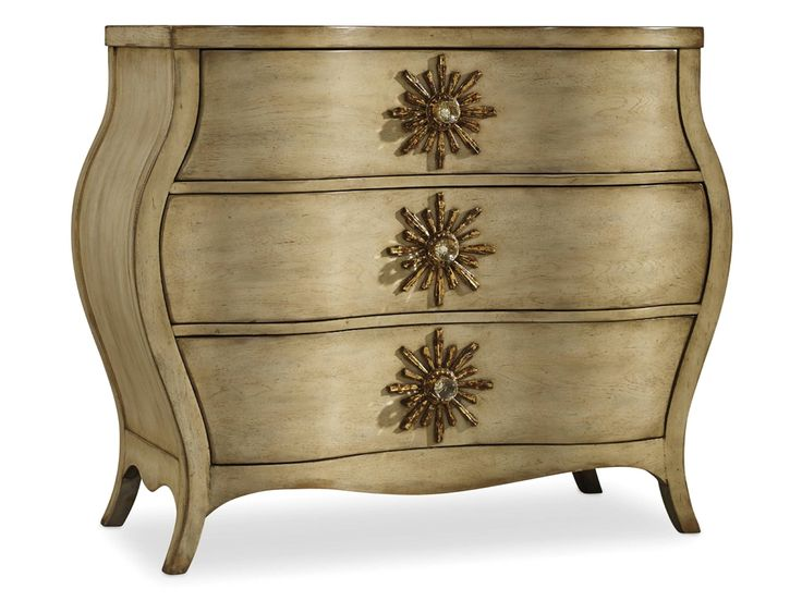Hooker Furniture Living Room Sanctuary Three Drawer Bombe Chest 3028-85001