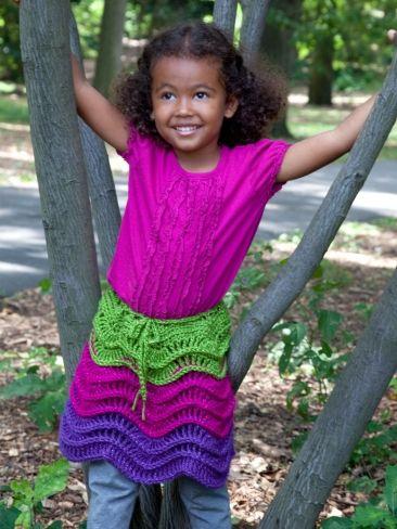 Salsa Party Skirt   Yarn   Free Knitting Patterns   Crochet Patterns   Yarnspirations