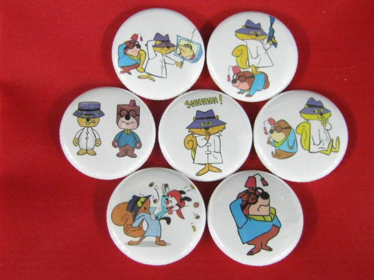 SECRET SQUIRREL Comic  Heros  NEW Set of 7 Select-a-Size of Pinback Buttons  #wtnabrand