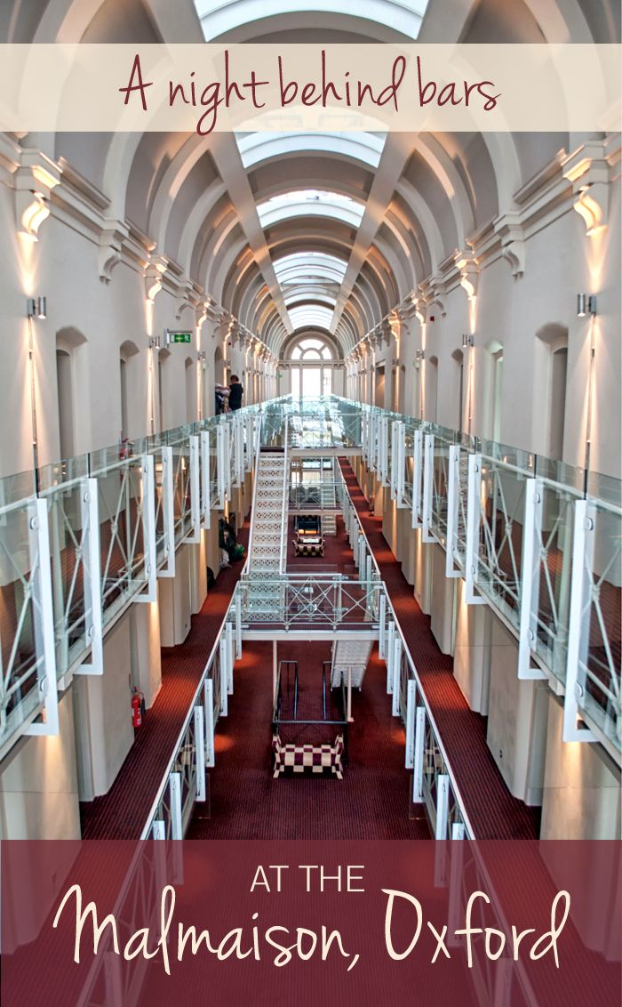 A night behind bars the malmaison oxford reviewed
