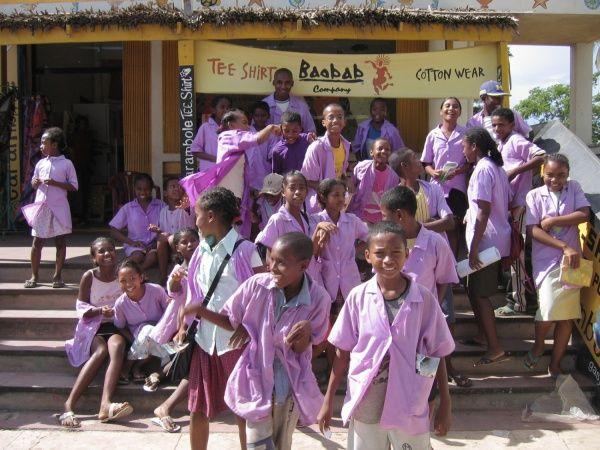 School kids in Tulear, southwest Madagascar http://madacamp.com/Tulear
