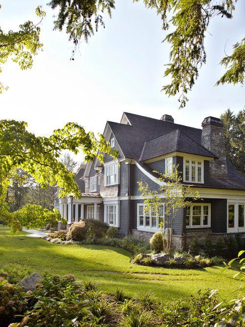 stone/shingle combo on exterior of house