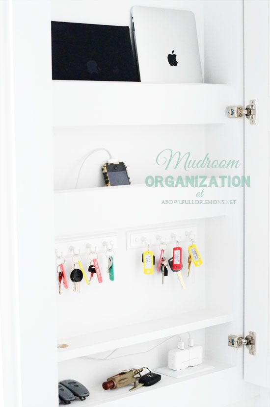 A Bowl Full Of Lemons Mudroom   Create A Cabinet To Hold All Your  Electronics,