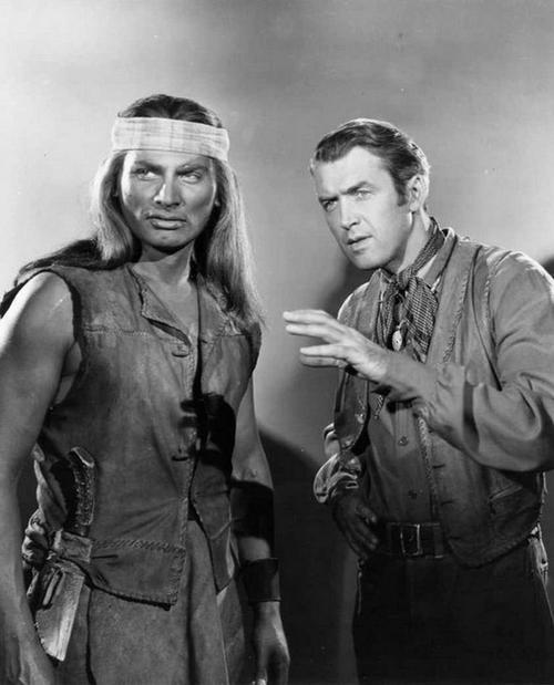 "Jeff Chandler & Jimmy Stewart. Flecha rota (1950) ""Broken Arrow"""