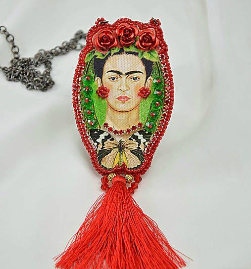 charoit / Náhrdelník Frida s červeným strapcom
