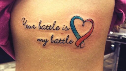 For my mom, who has beat cervical cancer and currently fighting her battle with leukemia #cancer #tattoo