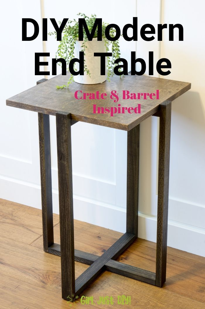 Diy Modern End Table Diy Furniture Woodworking Diy End Tables