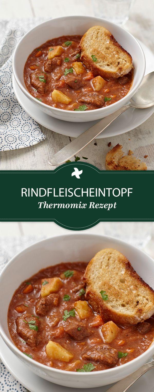 Heute gibt's Eintopf! Thermomix ® Rezept für Rindfleischeintopf vom Rezept-Portal Cookidoo ®. Schmeckt am Besten mit frischem selbst gemachten Brot!