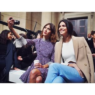 Selfie time! @Kendalljenner and @Chungalexa getting a quick snap before the show. #topshopunique #aw15 #frontrow