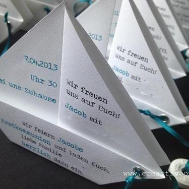 Einladung Konfirmation/Kommunion - PAPIER.BOOT 2