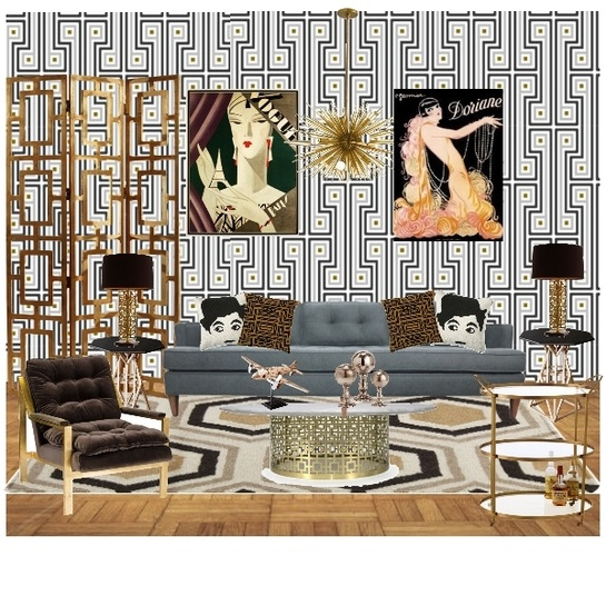 Art Deco Living Room Extraordinary Design Review