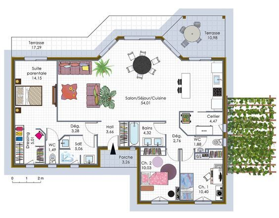 1145 best maison images on Pinterest House blueprints, Floor plans