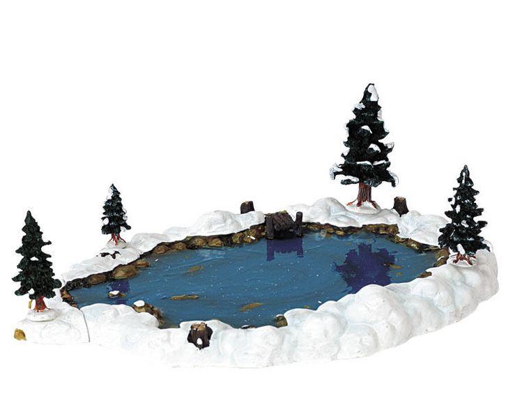 Lemax - 94387, Waldsee, Landschaftsgestaltung, Weihnachtsdorf,    Maison, Fêtes, occasions spéciales, Décorations de Noël, sapins   eBay!