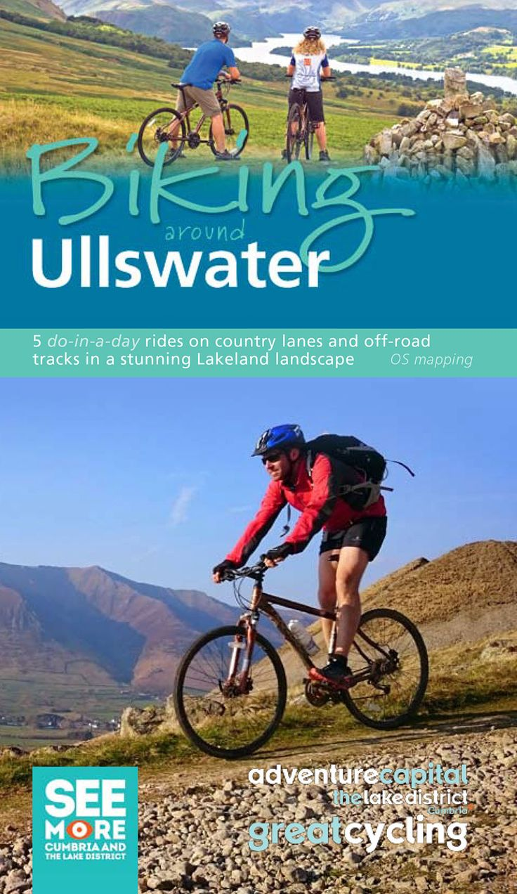 Very pleased with our revised 'Biking around Ullswater' cycling leaflet - available from Penrith TIC. Perfect if the Aviva Tour of Britain has inspired you!  Produced in partnership with See More, Cumbria and the Lake District, Ullswater 'Steamers' and the Ullswater Assoication.
