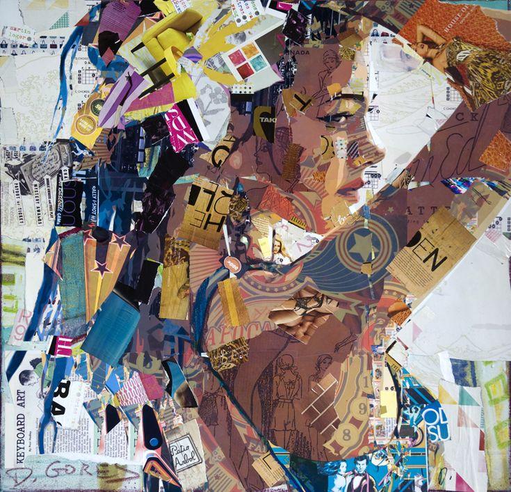 Derek gores, retratos de papel || Siempre quise hacer unos así #collages