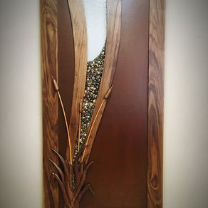 Hand Carved Entry Door by Shane  Hughes