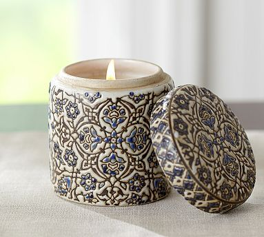 Ceramic Scented Candle Pot - Aegean Sea #potterybarn