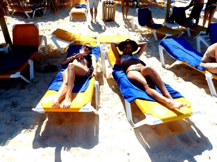 Relaxing with my sister in Punta Cana.