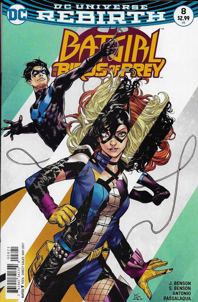 Dc Batgirl Universe Rebirth Birds Of Prey Comic Issue 8 Limited Variant Comic Books Art Batgirl Comics