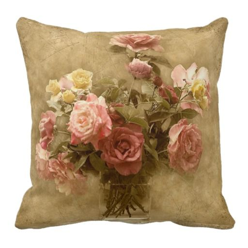 Shabby Chic Bedroom Throw Pillows : Shabby Chic Rose Pillow Shabby chic, Chic and Home decor