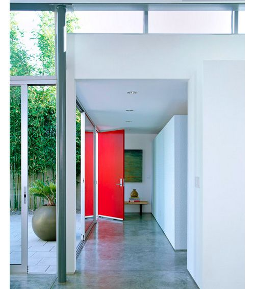 concrete floor leading to outside