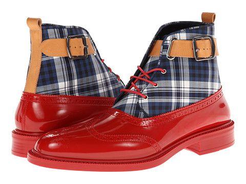 Vivienne Westwood Plaid Boot Brogue Red/Tartan - Zappos.com