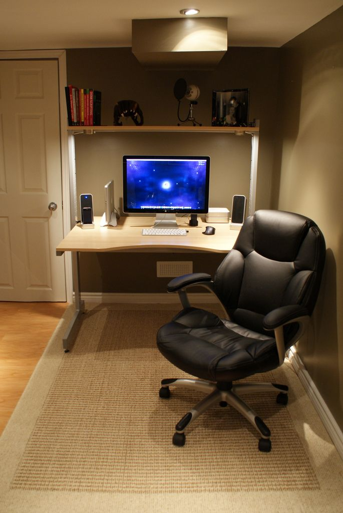 Home Office Workspace '09  //  love the chair / love the lighting ...