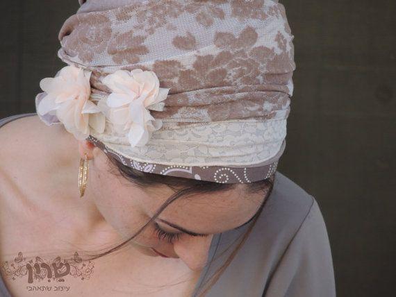 Weich und romantische Tichel, Haar Snood, Kopftuch, Leiter Bespannung, jüdische…