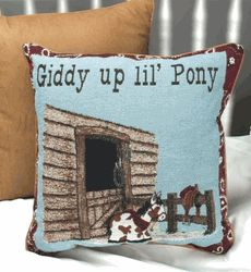 infant rooms, western theme | Baby room pillow - pony