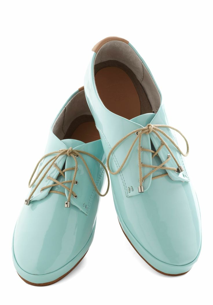Blast of Pastel Flat. Infuse a bit of fun and fashion into your day by lacing up these patent Oxford flats from Joes Jeans Footwear!