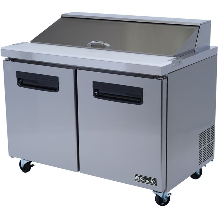 """Commercial Stainless Steel Sandwich Prep Table Refrigerator (48"""" x 30"""")"""