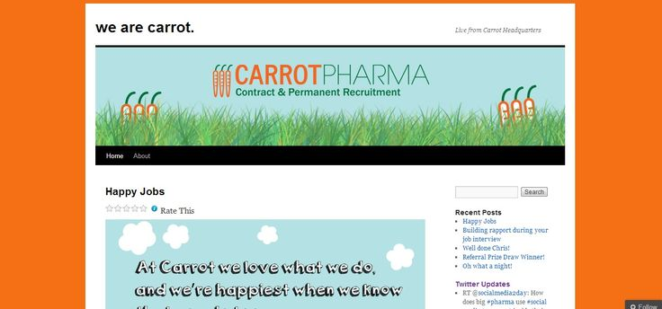 The Blog is used to promote the Carrot Culture and also feeds other social media campaigns. It is viewed in 67 countries.