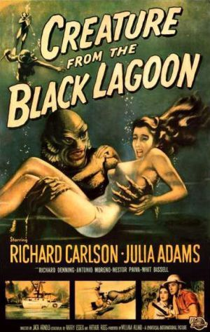 """Creature From The Black Lagoon...classic 50's sci fi film  whose plot follows """"King Kong""""  very closely."""