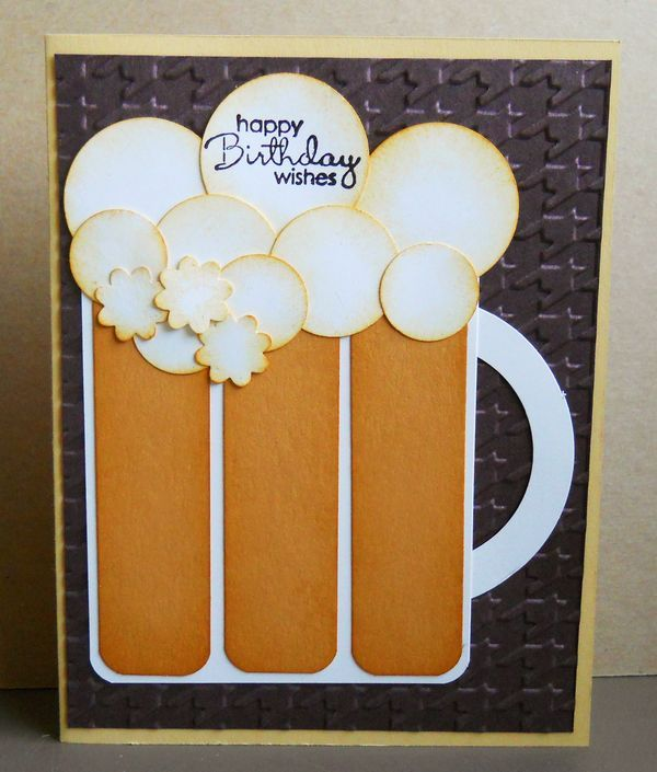 We celebrated my son Alex's birthday on Sunday, and I made this beer mug birthday card for him. He loved it! Masculine cards can be challenging for most of us ladies, and I saw this idea on another demonstrator's blog. When I saw it, I knew I had to make...