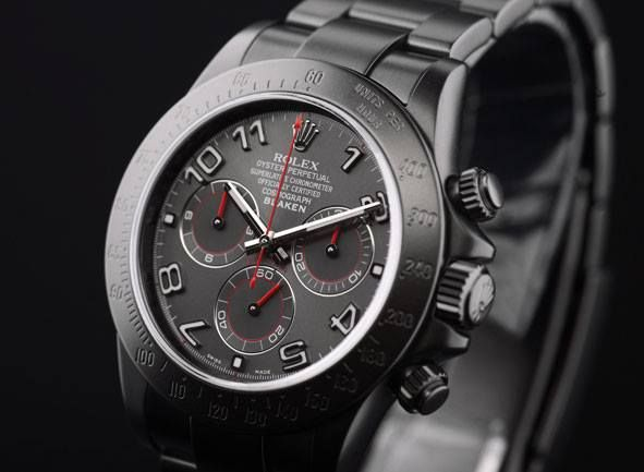 Wow, the new matte #BLAKEN Daytona, anthracite, with Arabic numerals.  Why have a standard #Rolex, when you can have something truly #unique ?  #Stunning!!!   assistance@vendome.com.au, 0280692316