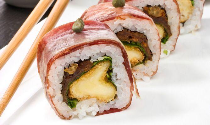 Spanish sushi - Receta de Roll mediterráneo con jamón ibérico