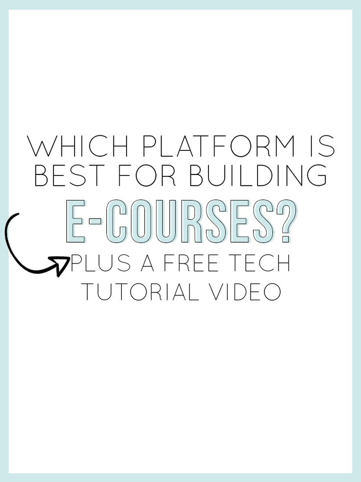 "Dear ninja #infopreneurs: ever wonder which platform you should choose for your next online course? Alisha has the answer. Check out her amazing info on ""Which Platform is Best for Building E-Courses?"""