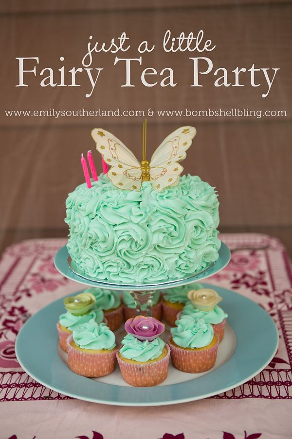 I love this darling fairy tea party for little girls! | @littlegirlsbows