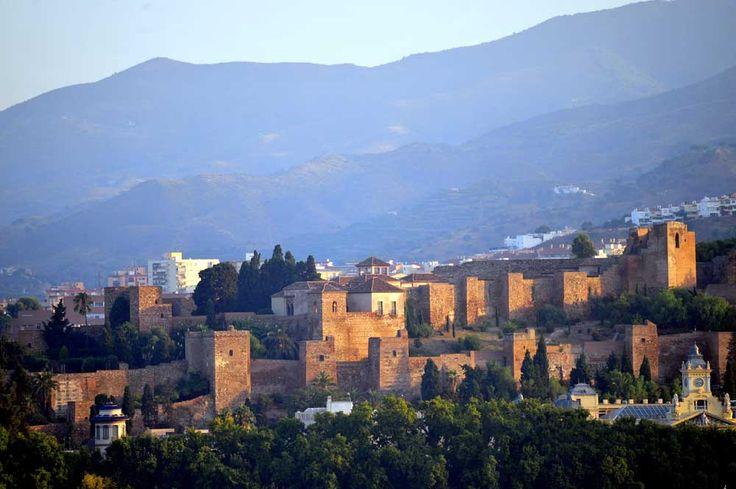 View of the Alcazabar Malaga Andalucia spain Luxury travel Malaga
